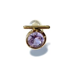 E10-0044a-AM 【K10 Ω amethyst earring】