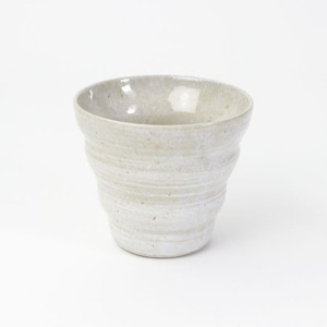 【SL-0075】陶器 カップ グレー×白