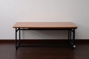 Factory Black Stretch Table 1050-1690 / インダストリアルスタイル ファクトリーブラック 伸縮テーブル