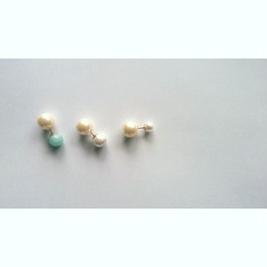 Maru Pierce amazonite(Blue) by Ui Japan