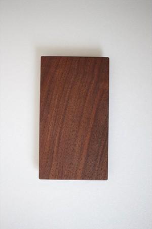 松下由典|木のトレイ長方形(S) ウォルナット材