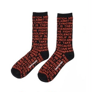 CHRISTIAN DADA - Quotes Jacquard Socks (BLACK) -