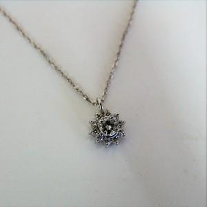 プラチナ900 ダイヤネックレス y0873