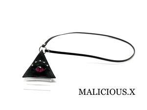 cat eye triangle coin case(mini) / magenta
