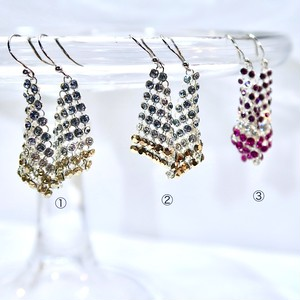 TRIANGLE  THREE COLOR EARRINGS  XS