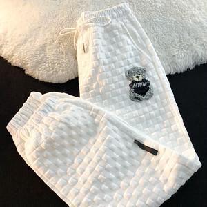 ワッフルベア刺繍パンツ M-2XL
