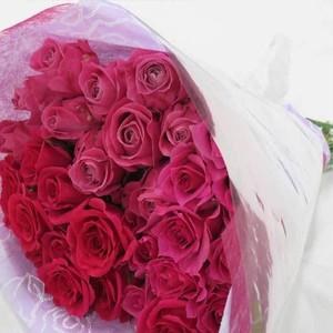 バラの花束(濃いピンク)30本