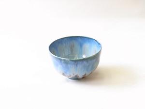 清水焼 15代 加藤治兵衛 治兵衛窯 釉流彩 抹茶碗