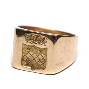 French Antique 18k Gold Intaglio Ring