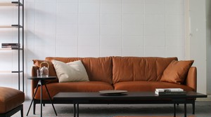 dual sofa 3P leather