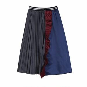 フリルステッチプリーツスカート   1-384
