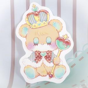 【Sakura】チョコミントベア/ダイカットカード