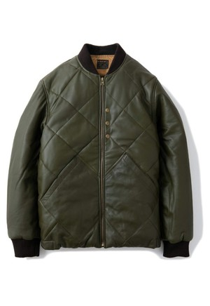 """AT-DIRTY(アットダーティー)/""""ATD WP LEATHER JACKET""""(OLIVE)"""