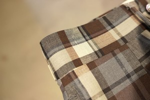 NEAT <WIDE> FOX BROTHERS WOOL / LINEN MADRAS