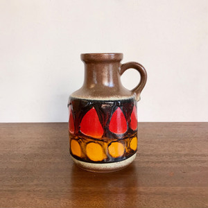 "Vintage W.Germany Pottery Vase ""Scheurich"" 414-16 西ドイツ"