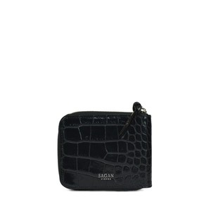 WALLET SQUARE BLACK with HORN PULLER