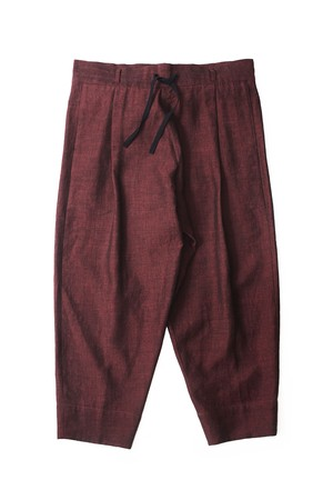 YANTOR Linenwool Himo Pants (RED / size:M)