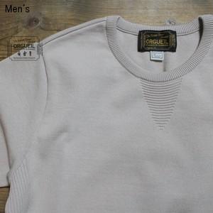 《ラスト1点》ORGUEIL 半袖リブニットTシャツ Knit Tshirt  OR-4100 (GRAY)