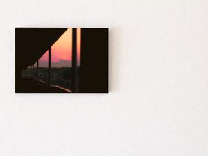 【A4サイズ相当】パネル写真:夕焼け