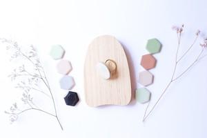 332伝統文化品美濃焼多治見丸タイル指輪・リング(フリーサイズ)