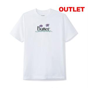【アウトレット】BUTTER GOODS FLOWERS CLASSIC LOGO TEE WHITE サイズM