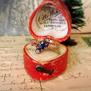 Sapphire & Diamond Victorian Ring