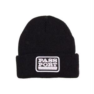 PASS PORT / AUTO PATCH BEANIE -BLACK-