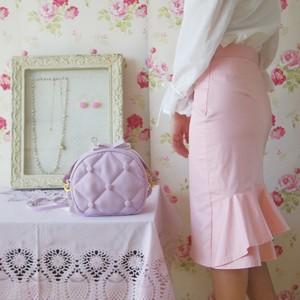 バックフリルタイトスカート 、ペプラムスカート