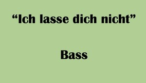 """バス用 """"Ich lasse dich nicht"""" BWV Anh. 159 Karaoke for Bass"""