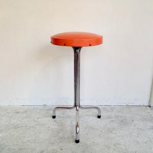 Round Metal Kitchen Stool / Orange オランダ