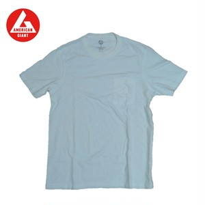 AMERICAN GIANT Heavyweight Pocket T-Shirt WHITEP