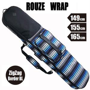 ROUZE 3WAYスノーボードバッグ Wrap ジグザグボーダーブルー  バックパック・ボードケース・ショルダーに