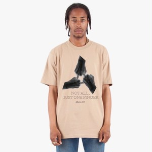 ILL IT - NOT ALL JUST ONE FINGER T-SHIRT - (BEIGE)