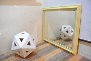 60's Wall Mirror (Yellow)