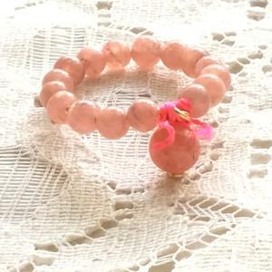 リング インカローズ ~ ロードクロサイト かわいらしい ピンク