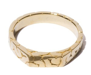 Brain Mark stand Ring (S) Gold-Coating