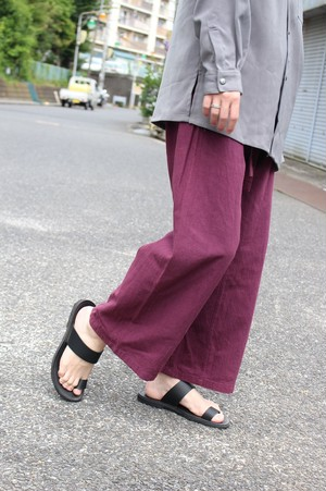 Cotton Easy Wide Pants