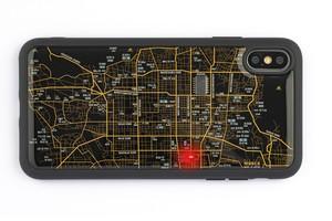 FLASH 京都回路地図 iPhone XS Maxケース 黒【東京回路線図A5クリアファイルをプレゼント】