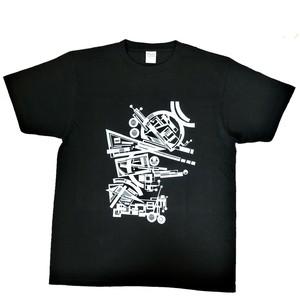 LY:Original T-Shirts ブラックボディー (Front Print) ② 2020002FPB