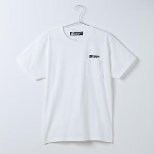 SURFIN' LIFEオリジナル ポケットTシャツ/SURFIN'LIFEロゴ(ホワイト×ブラック)