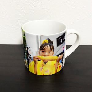 写真やメッセージから作る スモールマグカップ  陶器