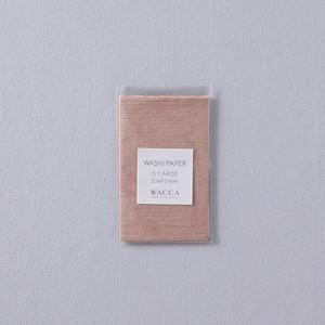 BU14 斐伊川和紙 板目紙 名刺 ピンク 5枚入