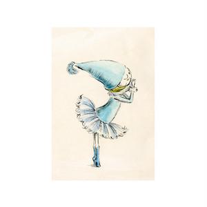バレエポストカードバレエポストカード・Dancing Fairy 青い鳥