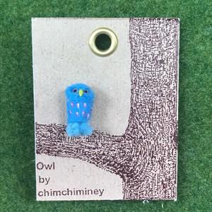 Chimchimney / カラーフクロウピアス(ブルー)A