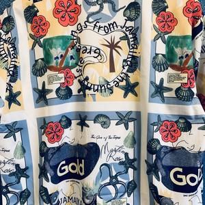 ジャマイカンマリンの手書き風アロハシャツ