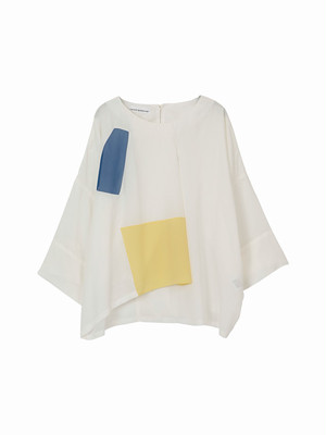 Square pull over shirt  / white / S16SH01