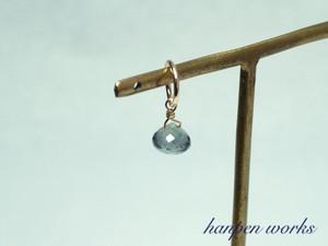 14kgf 3月の誕生石 宝石質 モスアクアマリン ネックレストップ チャーム