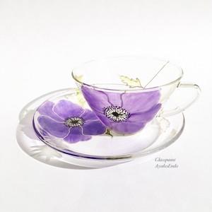 【母の日プレゼント】紫アネモネティーカップ1つ|母の日ギフト・還暦祝い・退職祝い・誕生日プレゼント