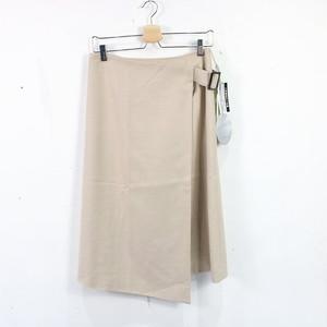 【新品】DAMA collection / ダーマコレクション   レーヨン混紡 ラップスカート   64-91   ベージュ   レディース