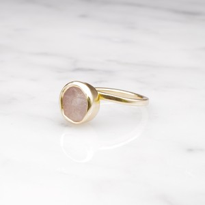 ROUGH STONE RING GOLD 019